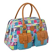 Lï¿œssig Changing Bag Vintage Metro Bag Flower Quilt by Lï¿œssig
