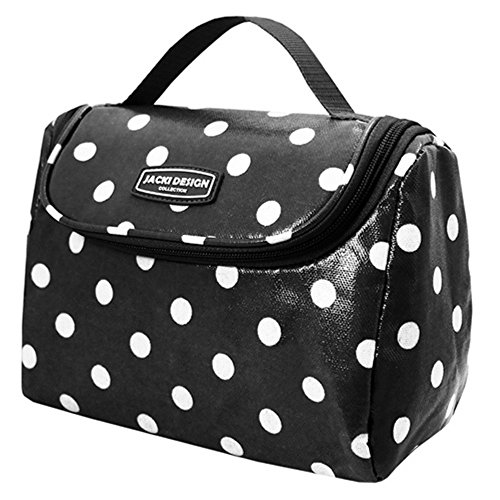jacki-design-polka-dot-insulated-lunch-bag-m-black