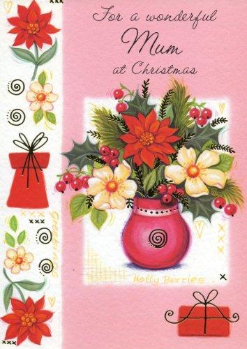 Wonderful Mum Christmas Card - Finished  Holographic