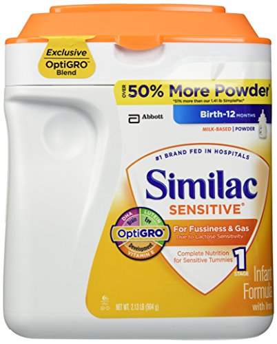 Similac Sensitve Infant Formula for Fussiness and Gas, 34ounces, 34 Ounce - 1