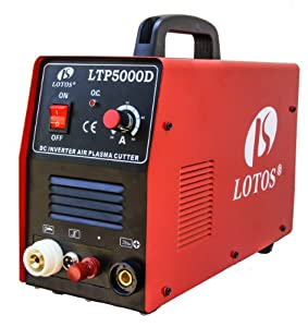 """LTP5000D LOTOS 50A Pilot Arc IGBT Plasma Cutter Dual Voltage 110/220VAC 1/2"""" clean Cut with CNC auto cutting feature added. by Lotos"""