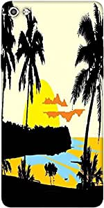 Snoogg Tropical Landscape Designer Protective Back Case Cover For Micromax Canvas Silver 5 Q450