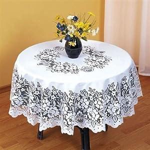 nappe pour table ronde en dentelle blanche r 233 sistante superbe 160cm fr cuisine maison