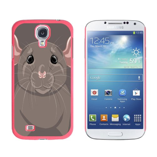 Graphics and More Rat Dumbo Fancy Gray Pet Mouse Snap-On Hard Protective Case for Samsung Galaxy S4 – Non-Retail Packaging – Pink