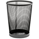 Rolodex Jumbo Metal Mesh Pencil Cup, 4.375 Inches Diameter, 5.5 Inches Height, Black/Silver (82406)