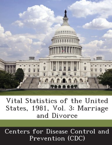 Vital Statistics of the United States, 1981, Vol. 3: Marriage and Divorce