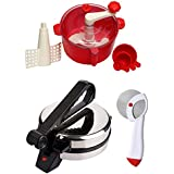 GTC_ COMBO OF NATIONAL ROTI MAKER, RED DOUGH MAKER AND PIZZA CUTTER
