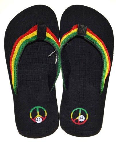 Rasta Slipper Footwear Jamaican Sandal Flip-Flops-size