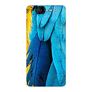 Cute Blue Feathur Back Case Cover for Canvas Knight A350