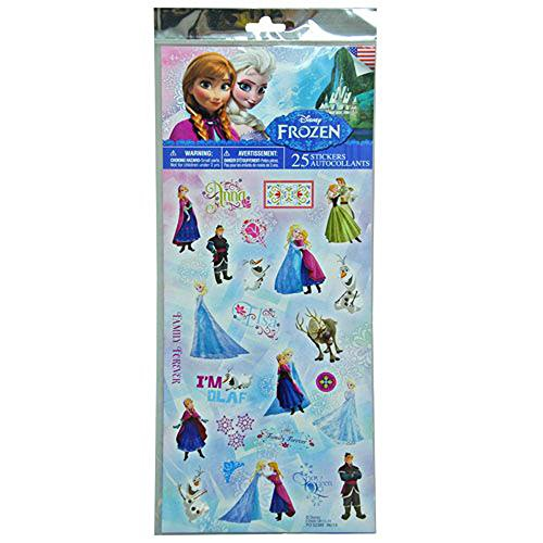 Disney Frozen Elsa, Anna, and the Whole Crew 25 Pc Stickers