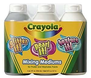 Crayola 3ct 8oz Tempera Mixing Medium Assortment