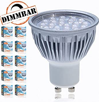 LED Spot Glühbirne Refektorstrahler Sparlampe GU10 warmweiß 5,2W = 50W 380lm