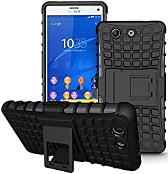 Delkart Kick Stand Cover for Sony Xperia Z3 Compect (Black)