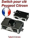Switch bouton clé télécommande plip Peugeot 206 107 307 406 Citroen C3 C2