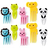 CUTEZCUTE 10-Piece Bento Decoration Box, Animals Food Picks and Forks