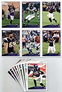 2009 Topps Minnesota Vikings Team Set-15 cards Adrian Peterson by Topps
