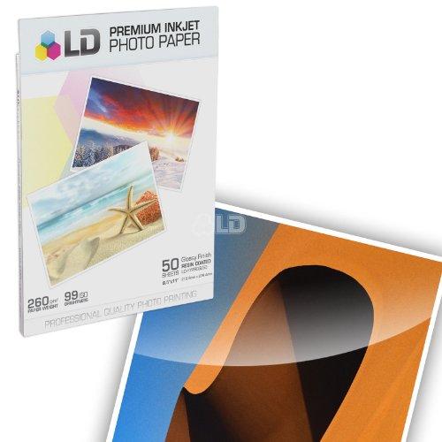 LD © Premium Glossy Inkjet Photo Paper (8.5X11) 50 pack - Resin Coated (Resin Coated Inkjet Paper compare prices)