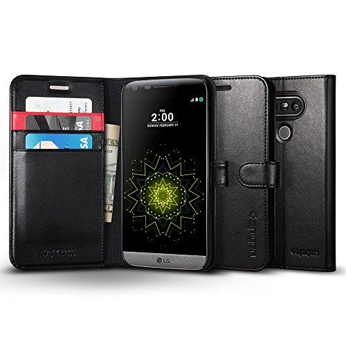 Custodia LG G5, Spigen [Premium Portafoglio Protettiva] Wallet S [Black] Cover LG G5 - Black (A18CS20140)