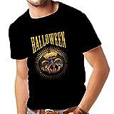 N4273 T-shirt pour hommes Halloween (Small Noir Multicolore)...