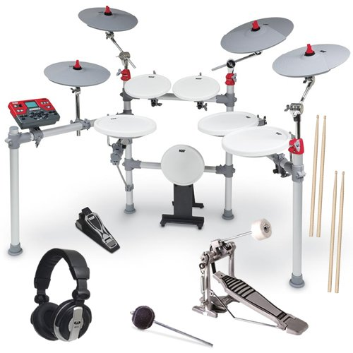 Kat Percussion Kt3 Advanced Digital Drum Set Pak W/ Pedal & Headphones