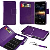 NOKIA ASHA 302 Purple PU LEATHER SUCTION WALLET CASE AND RETRACTABLE STYLUS PEN Case In Your Face®