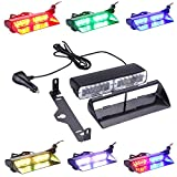 No.1!Newest Technology!!!High Power Super Bright 6 Colors 48 Flashing Mode Free switching!Emergency Vehicle Dash Warning Strobe LED Flash Light Safety(The Best Led Flash Light in Amazon Market)