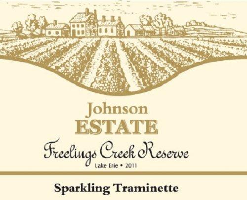 Johnson Estate 2011  Freelings Creek Sparkling Traminette 750 mL