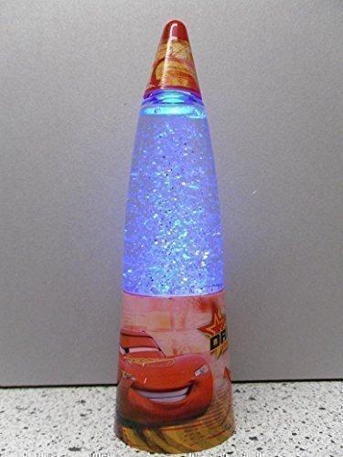 Disney Cars Nachtleuchte, LED Licht Farbwechsel Lampe Schneekugel, rot