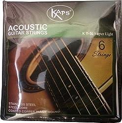 BamBah India K 11-SL Set of 6 Stainless Steel Acoustic Guitar Strings