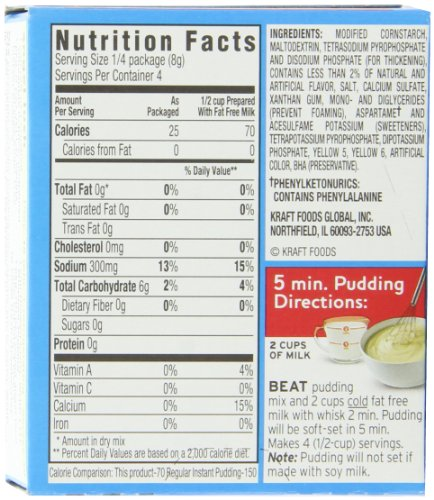 Nutrition Sugar Free Pudding Mix Chocolate