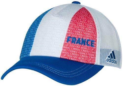 France Adidas 2014 FIFA World Cup Adjustable Mesh Back Trucker Hat