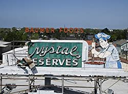 After Katrina Hit New Orleans - the Crystal Preserves Sign - Memorable 16x20-inch Photographic Print by Carol M. Highsmith