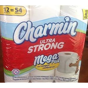 Charmin Ultra Strong Bathroom Tissue 12 Mega Plus Rolls