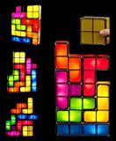 Tetris Desk Table LED Lamp, Premium DIY Puzzle Stackable Game Style Funny Light Lamp with Constructible Block (Squares Night Light)