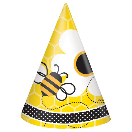 Bumble Bee Party Hats, 8ct - 1