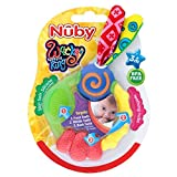 Nuby Wacky Teething Ring 3mth+ Nuby奇抜な歯が生えるリング3Mth +