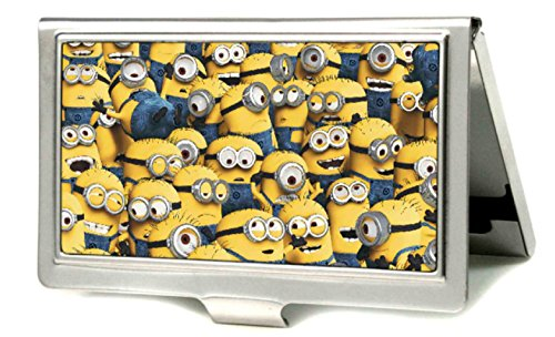 Despicable Me - Minions Stacked Design - Metal Multi-Use Wallet Business Card Holder (Business Card Holder Shark compare prices)