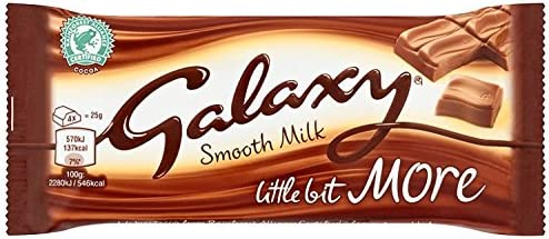 Galaxy Milk Kingsize Chocolate Bar 75 g (Pack of 24)