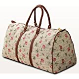 Tapestry Weekend Holdall/Luggage Bag/Travel Bag (large) Rose - Gobelin Styleby Green Bear QHS