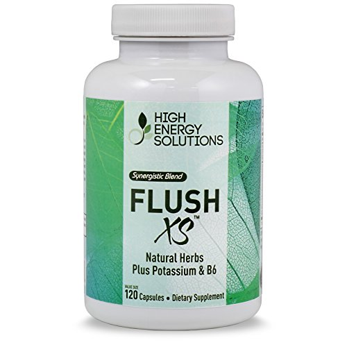 Flush-XS-Diuretics-Value-Sized-Bottle-120-Capsules-Natural-Diuretic-With-Potassium-Maximum-Strength-l-Flushes-Excess-Water-Loss-l-GMP-USA-100-Guarantee