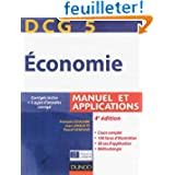 DCG 5 - Économie - 4e édition - Manuel et applications: Manuel et applications, corrigés inclus