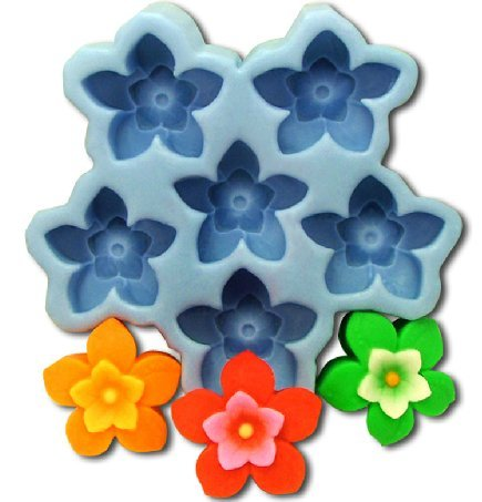 Luxbon Tulip Flowers Diy Soap Oven Art Craft Fondant Mold/Tray Silicone Decorating Tools Randomly Color