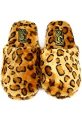 Animal Print Soft Cushion Indoor Outdoor Non Slip Sole Slippers Leopard S 5-6