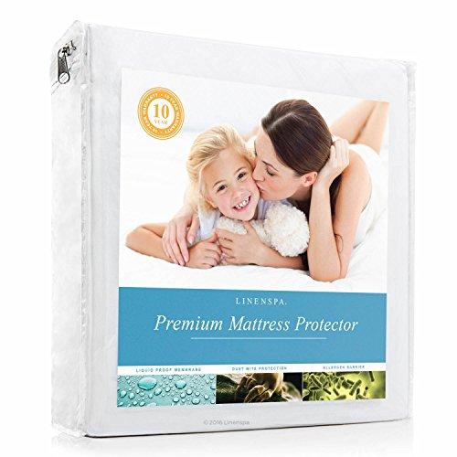 linenspa-premium-mattress-protector-100-waterproof-hypoallergenic-10-year-warranty-vinyl-free-queen-