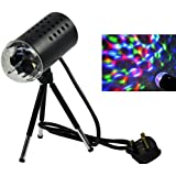 Rotating RGB LED 3D Effect Stage Light Party DJ Disco Lamp Dance Xmas New Year Home Party Clubbing