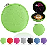 Magic Global Gadgets® - Green MP3 / Earphones / Headphones / iPod Shuffle / iPod Nano 6 / Apple Watch Sport / Memory Cards / Storage Bag / Universal Carrying Clamshell Pouch Case Cover