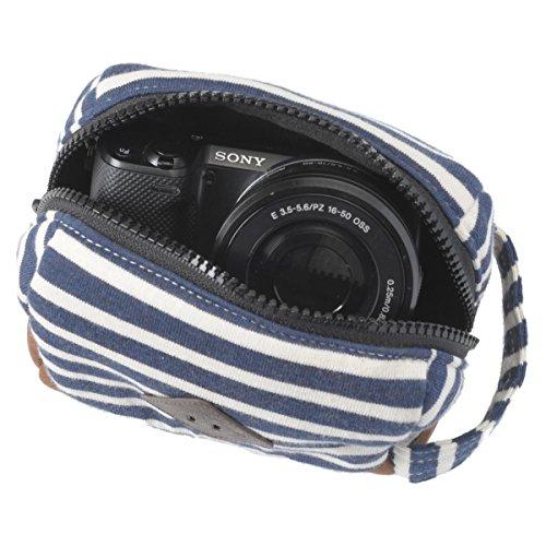 【アマゾンオリジナル】 ETSUMI デジタルカメラケース ヌーボーナタリー ボーダーネイビー ETM-83794