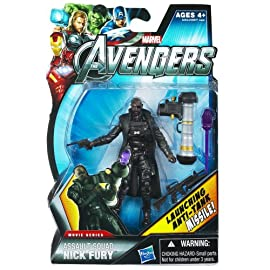 Assault Squad Nick Fury Marvel The Avengers Movie Series Action Figure