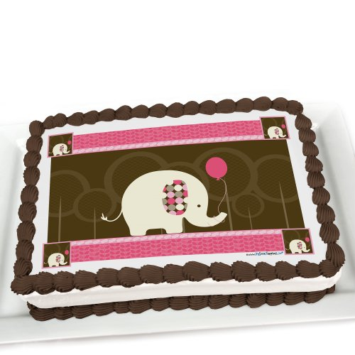 Pink Elephant - Edible Cake Topper