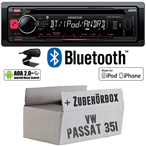 VW Passat 3A + 35i - Kenwood KDC-BT500U - Bluetooth CD/MP3/USB Autoradio - Einbauset